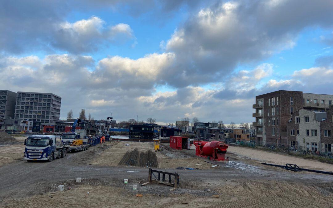 Start heiwerk De Vrije Kade fase 3 in Amsterdam Noord